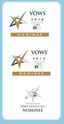 Scottish Wedding Award Winner, VOW winner, Vows nominee